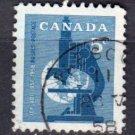 CANADA 1958 - Scott 376 used - 5c, Geophysical Year   (10-379)
