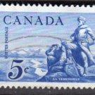 CANADA 1958 - Scott 378 used - 5c, La Verendrye    (10-381)