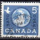 CANADA 1959 - Scott 384 used - NATO 10th Anniv   (10-389)