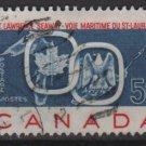 CANADA 1959 - Scott 387 used - 5c, Opening St Lawrence Seaway  (u434)