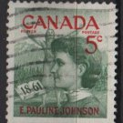 CANADA 1961 - Scott 392 used - 5c,  Emily Pauline Johnson  (10-403)