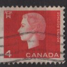 CANADA 1962 - Scott 404 used - 4c Queen Elizabeth II  (10-425)