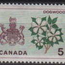 CANADA 1964 - Scott 423 MH - 5c, Dogwood & Arms of Manitoba    (10-457)