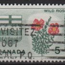 CANADA 1964 - Scott 426 used - 5c, Wild Rose & Arms   (10-464)