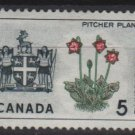 CANADA 1964 - Scott 427 MH  - 5c,Pitcher plant & Arms   (10-467)