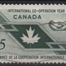 CANADA 1965 - Scott 437 used - 5c, International cooperation    (10-486)