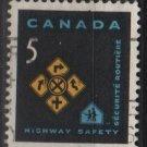 CANADA 1966 - Scott 447 used - 5c, Traffic safety   (10-501)