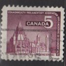 CANADA 1966 - scott 450 used - 5c, Parliamentary Library  (10-506)