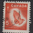 Canada 1966 - Scott 452 used - 5c, Praying hands, Christmas   (10-509)