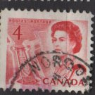 CANADA 1967 - Scott 457 used - 4c Queen Elizabeth II    (10-520)