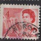 CANADA 1967 - Scott 457 used - 4c Queen Elizabeth II    (10-520)