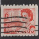 CANADA 1967 - Scott 468A used - 6c Queen Elizabeth II (10-539)