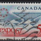 CANADA 1967 - Scott 469 used -  5c,  EXPO´ 67  (10-542)