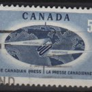 CANADA 1967 - Scott 473 used - 5c, Canadian Press(10-548)