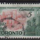 CANADA 1967 - Scott 475 used - 5c, Toronto   (10-552)