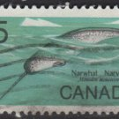 CANADA 1968 - scott 480 used - 5c,  Male Narwhal  (10-559)