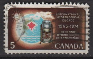 CANADA 1968 - scott 481 used - 5c, Hydrological decade (10-561)