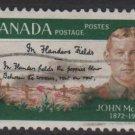 CANADA 1968 - scott 487 used - 5c, Lt Col. McCrae (10-564)