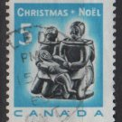 CANADA 1968 - Scott 488 used - 5c,  Christmas, Eskimo Carving  (10-565)