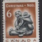 CANADA 1968 - Scott 489 used - 6c,  Christmas, Eskimo Carving  (10-566)