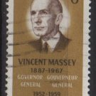 CANADA 1969 - Scott 491 used  - 6c, Vincent Massey   (10-568)