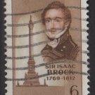 CANADA 1969 - Scott 501 used - 6c, Sir Isaak Brock  (10-571)