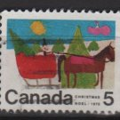CANADA 1970 - scott 520 used - 5c, Christmas, Children drawing  (10-586)
