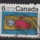 CANADA 1970 - scott 524 used - 6c, Christmas, Children drawing  (10-590)