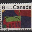 CANADA 1970 - scott 528 used - 6c, Christmas, Children drawing  (10-594)