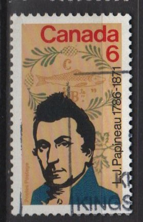 CANADA 1971 - Scott 539 used - 6c, Louis Joseph Papineau  (10-601)