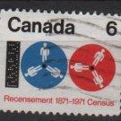 CANADA 1971 - Scott 542 used - 6c, Census Cent.   (10-602)