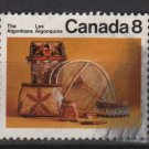 Canada 1973 - Scott 566 used - 8c, Algonkians Artifacts   (10-616)