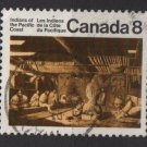 CANADA 1974 - Scott 570 used - 8c, Pacific Coast Indian House  (10-619)