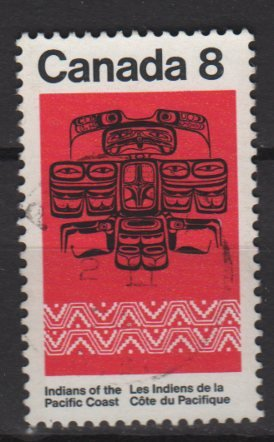 CANADA 1974 - Scott 573 used - 8c, Pacific Coast Indian Thunderbird   (10-621)