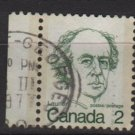 CANADA 1972 - Scott 587 used, pair - 2c, Sir Wilfrid Laurier  (10-626)