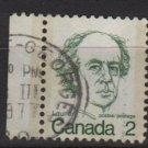 CANADA 1972 - Scott 587 used, pair - 2c, Sir Wilfrid Laurier  (10-626)
