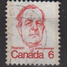 CANADA 1972 - Scott 591 used - 6c Sir Lester B Pearson   (10-630)