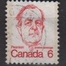 CANADA 1972 - Scott 591 used - 6c Sir Lester B Pearson   (10-630)