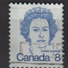 CANADA 1972 - Scott 593 used - 8c Queen Elizabeth II  (10-632)