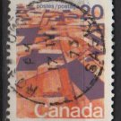 CANADA 1972 - Scott 596 used - 20c, Grain Fields, Prairie  (10-636)