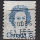 CANADA 1974 - Scott 604 COIL used - 8c Queen Elizabeth II   (10-640)
