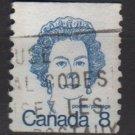 CANADA 1974 - Scott 604 COIL used - 8c Queen Elizabeth II   (10-640)