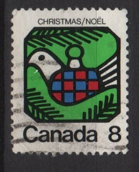 CANADA 1973 - Scott 626 used  - 8c, Christmas, Dove (10-656)