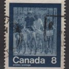 CANADA 1974 - scott 631 used - 8c, Keep fit, summer Olympic, bicycling   (10-658)