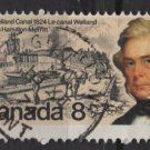 CANADA 1974 - Scott 655 used - 8c, Welland Canal  (10-673)