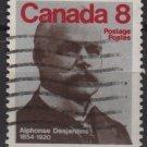 CANADA 1975 - Scott 661 used - 8c, Alphonse Desjardins     (10-676)