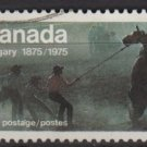 Canada 1975 - Scott 667 used - 8c, Wild Horse Race  (10-680)