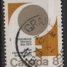 CANADA 1975 - Scott 668 used - 8c, Women´s year  (10-680*)