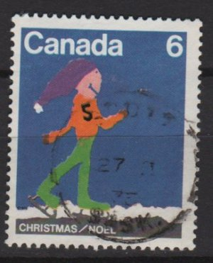 CANADA 1975 - Scott 675 used - 6c, Christmas Children drawing   (10-682)