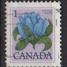 CANADA 1977 - Scott 705 used - 1c, Bottle Gentian    (10-693)